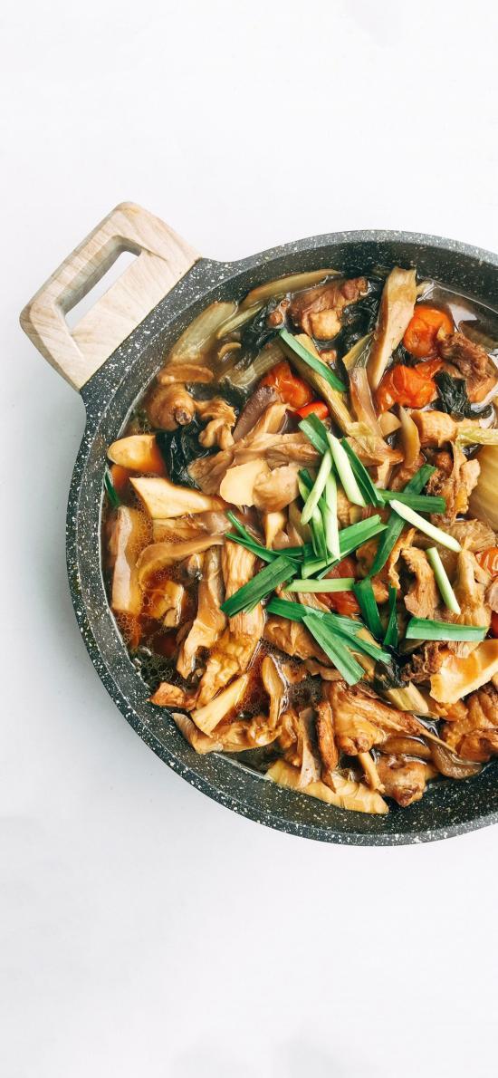 餐点 砂锅焖鸡 蒜 美味