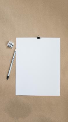 纸张 空白 A4纸 记录 文具