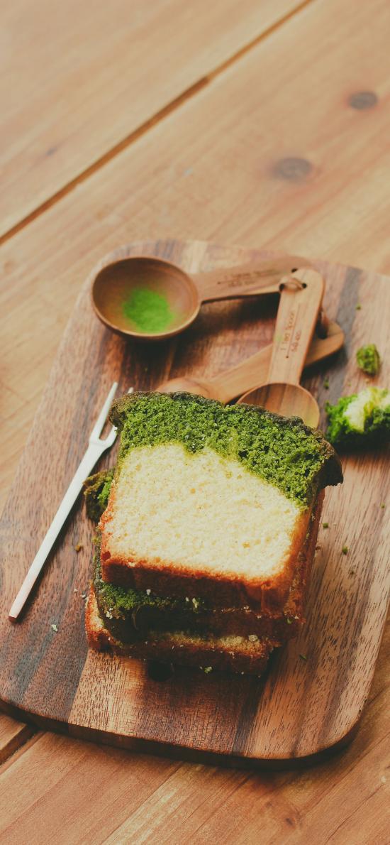 蛋糕 抹茶 面包片 烘焙 日系