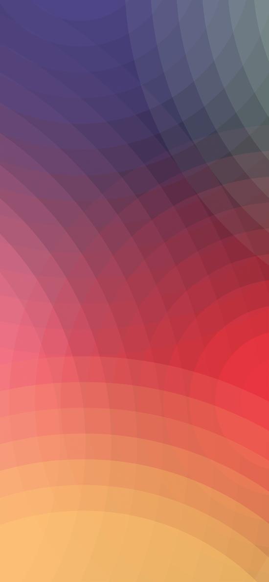色彩 圆 渐变 几何