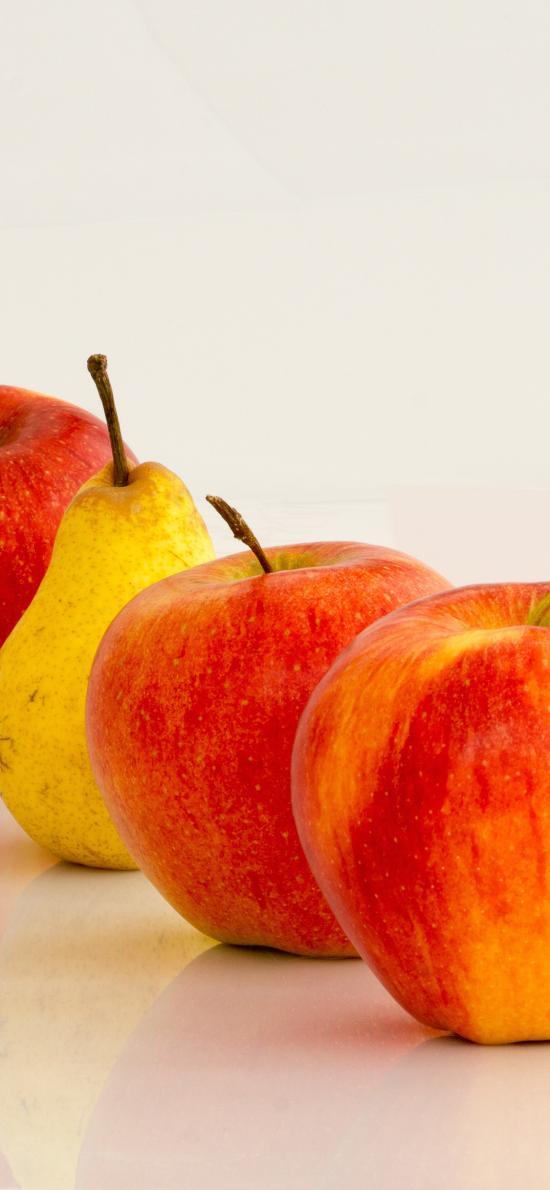 水果 苹果 梨 色彩 新鲜 排列