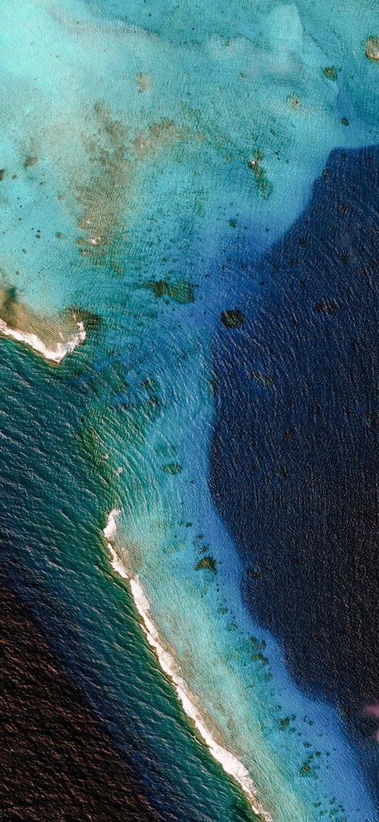 地理 地貌 海水 蓝色