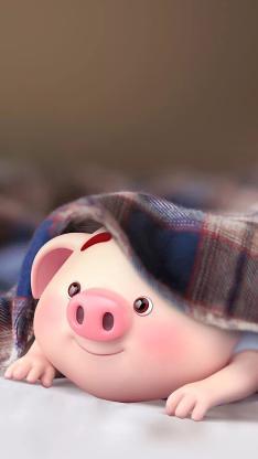 3D 卡通 猪小屁 可爱