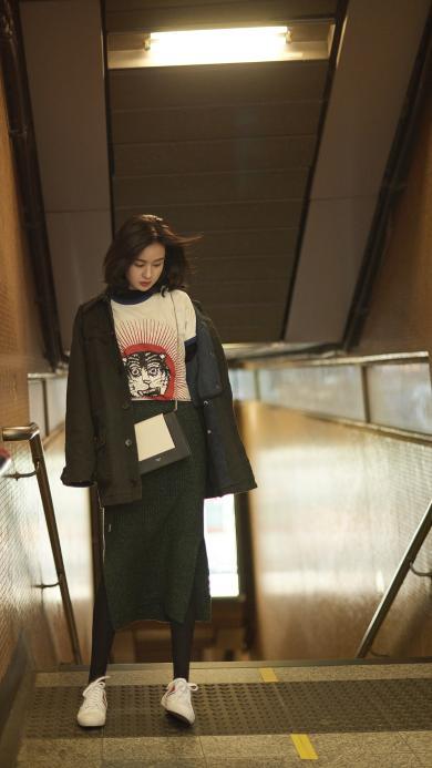 郑合惠子 演员 明星 香港 街拍
