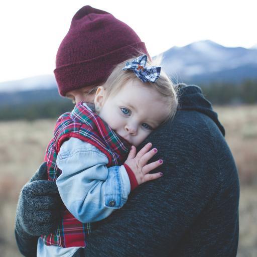 拥抱 欧美 小女孩 可爱 父爱 情亲
