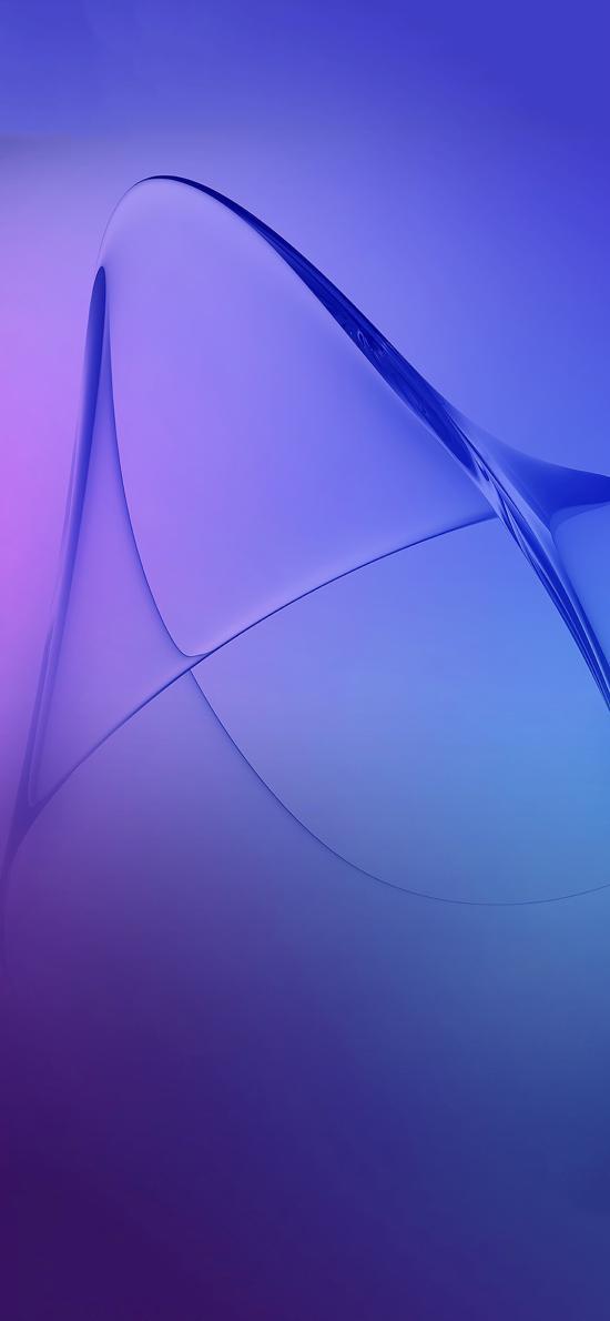 抽象 紫色 渐变 线