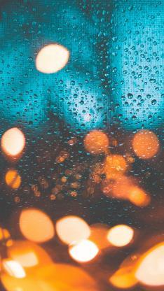 雨水 光 玻璃 水滴 水珠