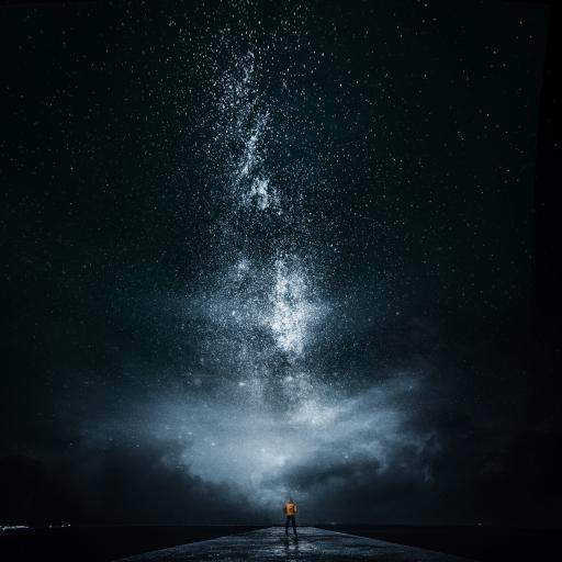 炫酷 星空 夜晚 星系