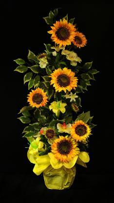 装饰 盆栽 假花 向日葵 葵花