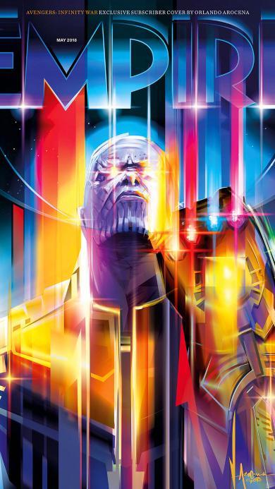 复仇者联盟3 无限战争 灭霸大人 色彩 炫酷 超级英雄