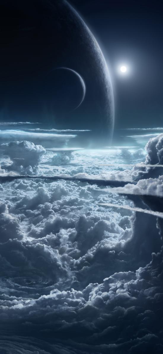 天空 云端 星球 科幻