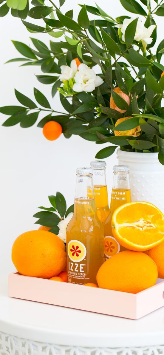 新鲜水果 橙子 榨汁 橙汁