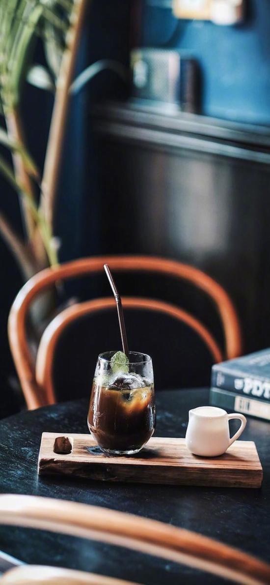 饮品 咖啡 冰冻 冰块