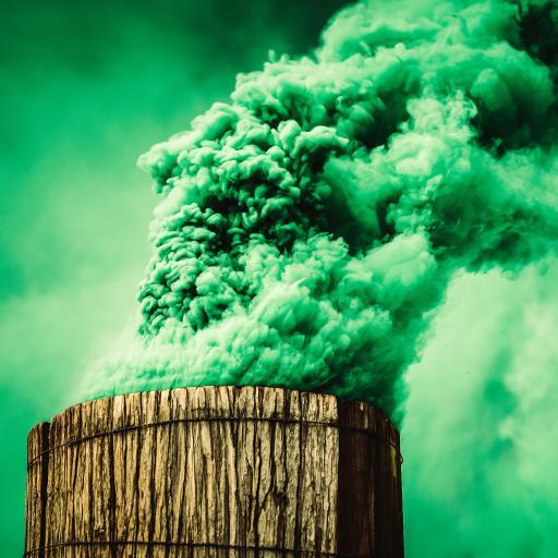 烟雾 绿色 狼烟 警报