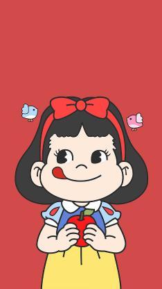 不二家 甜妞 红色 白雪公主 可爱 卡通