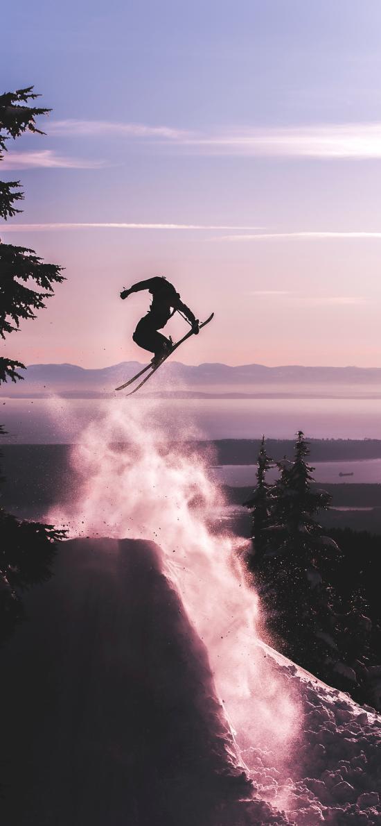 滑雪 運動 競技 跳躍