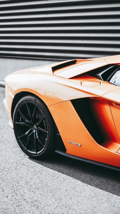 兰博基尼 跑车 汽车 橘色 炫酷