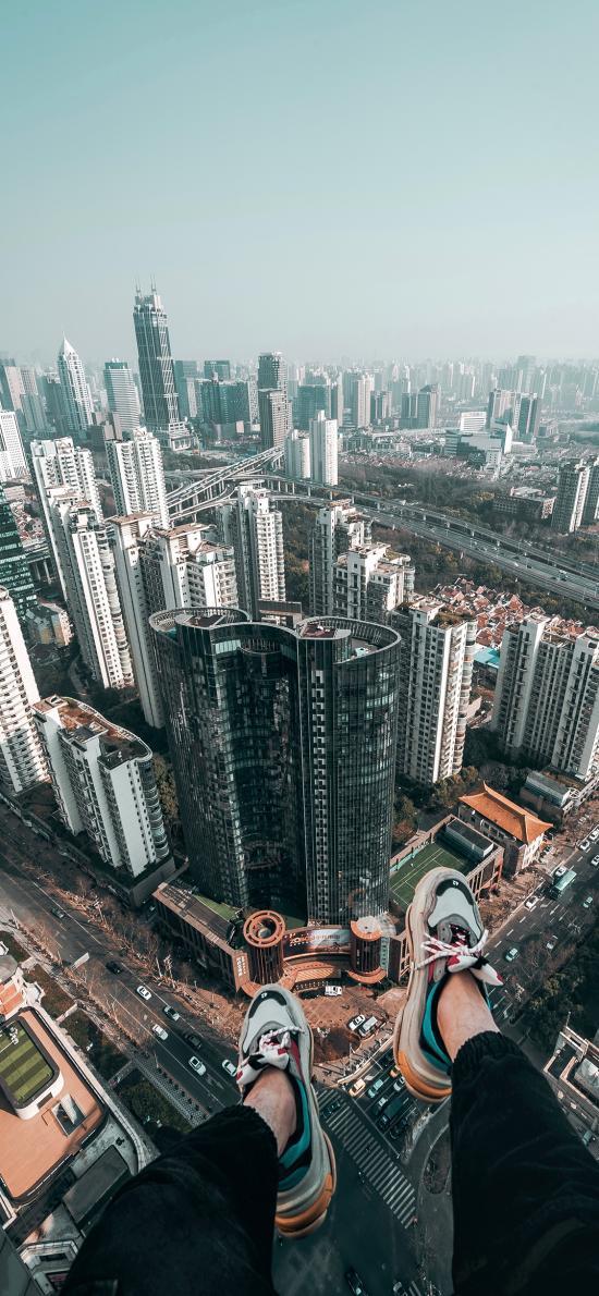 城市 建筑  高处 都市 楼房