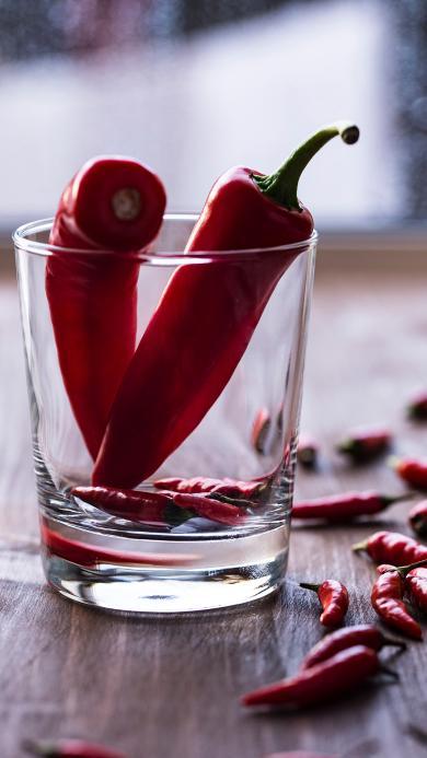 食材 辣椒 玻璃瓶 小米椒