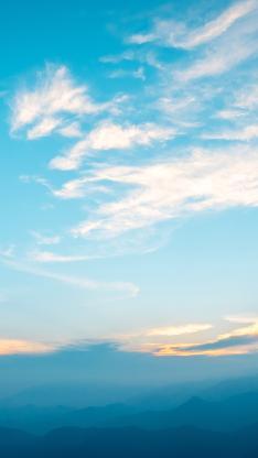 天空 唯美 蔚蓝 云朵