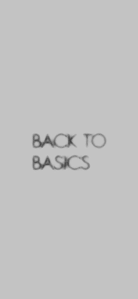 back to basics 回到基础 英文
