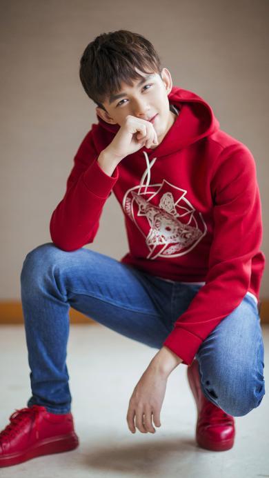 吴磊 艺人 帅气 红衣
