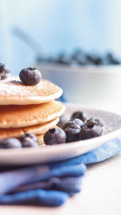 点心 蓝莓 松饼 甜品