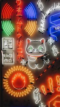 创意 色彩 灯牌 造型 猫咪