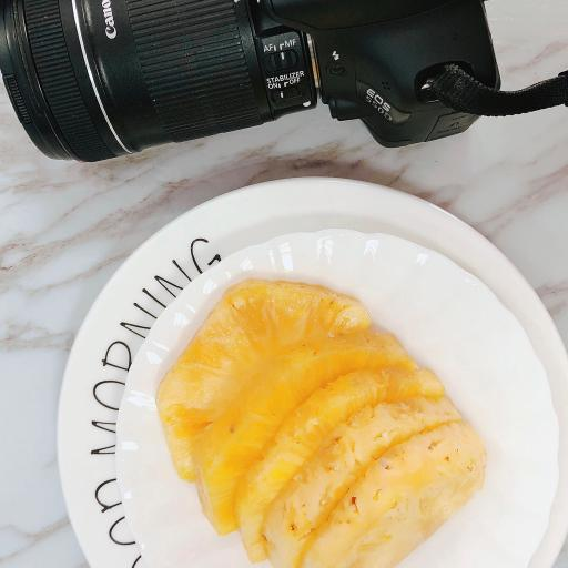 菠萝 相机 静物 单反