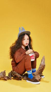 童模 时尚 黄色 儿童 小女孩 模特