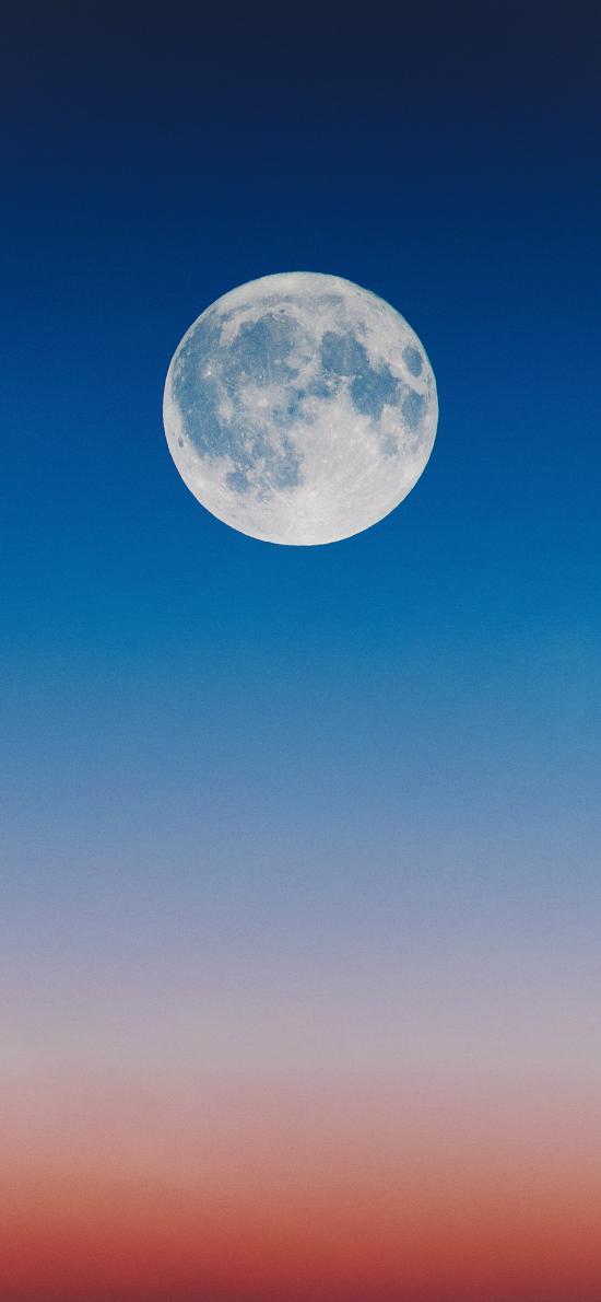 月亮 月球 天空 漸變