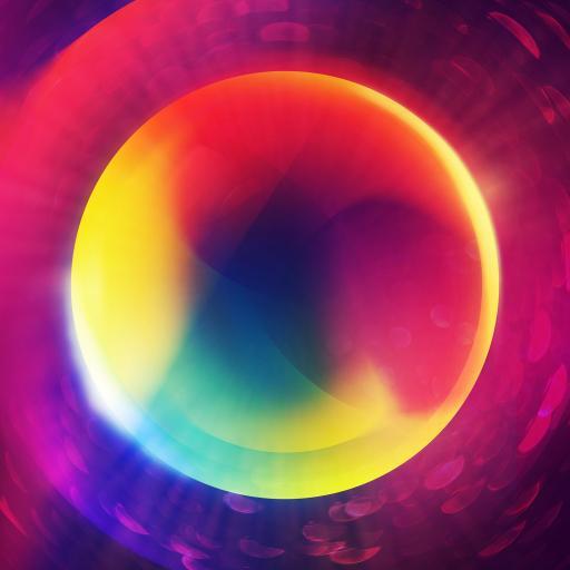 色彩 圆形 光影 渐变