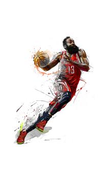 篮球 运动 球员 手绘