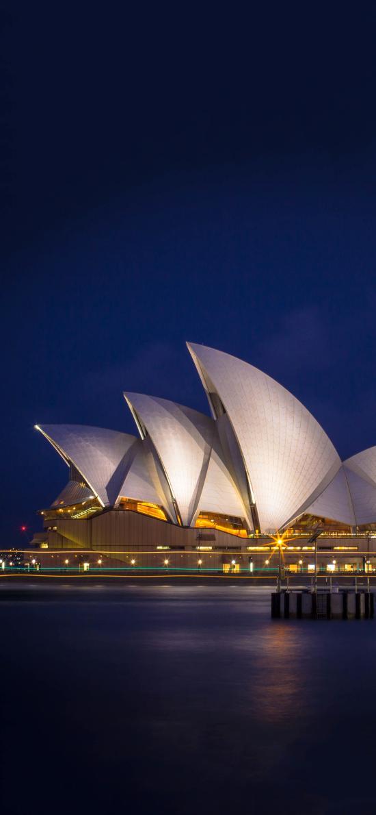 悉尼歌劇院 建筑 夜晚 燈光 璀璨