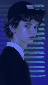 艺术 绘画 超写实 欧美男孩