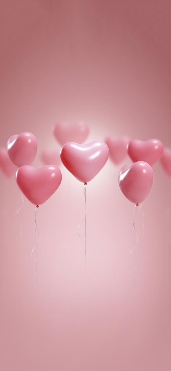 气球 爱心 浪漫 粉色