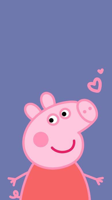 小猪佩奇 爱心 卡通 动画 可爱