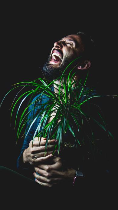 盆栽 大笑 笑容 绿植