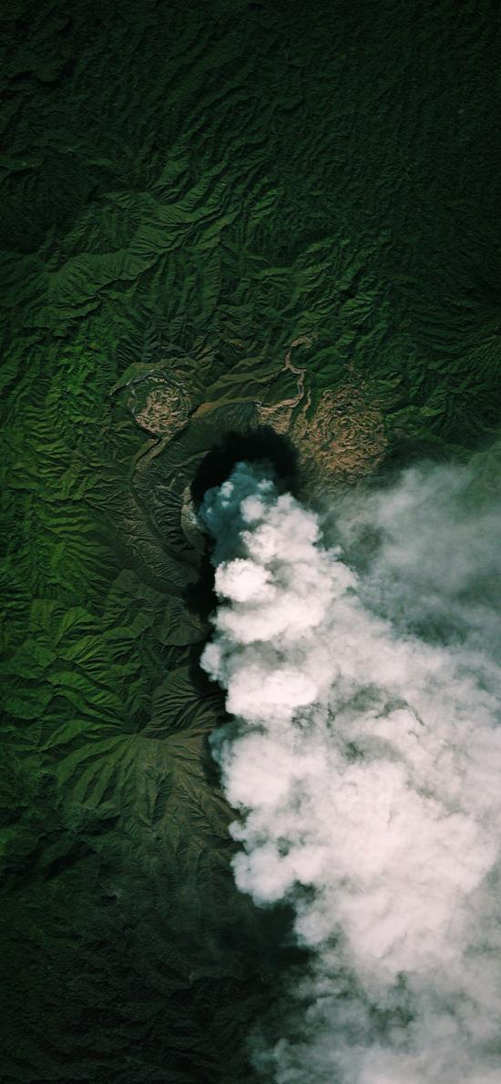 地理 地貌 煙霧 綠色 山脈 地質