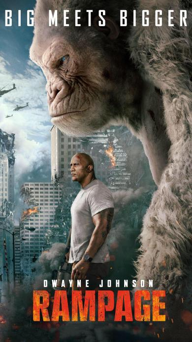 狂暴巨兽 道恩·强森 欧美 电影 海报 猩猩 乔治