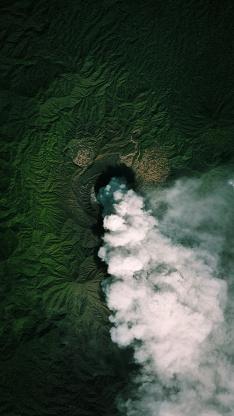 地理 地貌 烟雾 绿色 山脉 地质