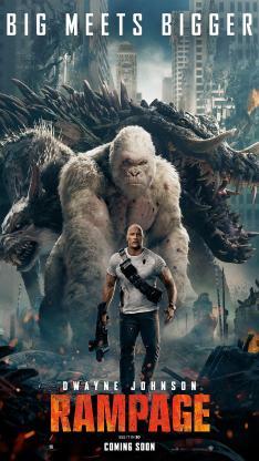 狂暴巨兽 道恩·强森 欧美 电影 海报 猩猩 乔治 怪兽