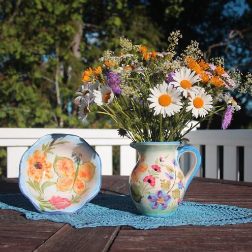 花瓶 鲜花 菊花 瓷器