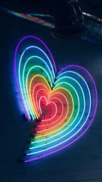 爱心 灯牌 灯光 色彩 渐变