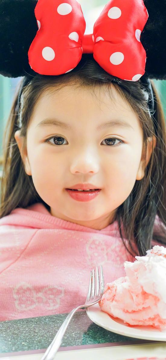 阿拉蕾 崔雅涵 小女孩 萌 可愛 米奇頭箍