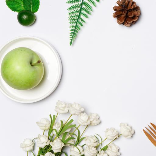 静物 青苹果 假花 金桔