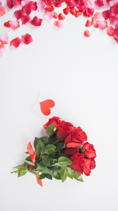 花束 鲜花 红玫瑰 爱心