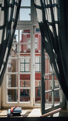 窗户 窗外 城市 住宅 房屋