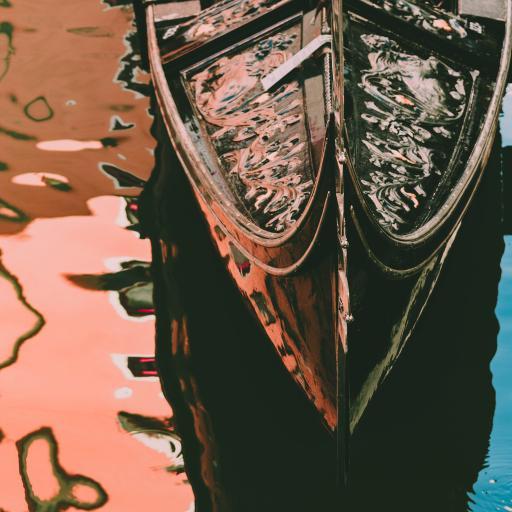 船只 木船 小船 水面 镜面