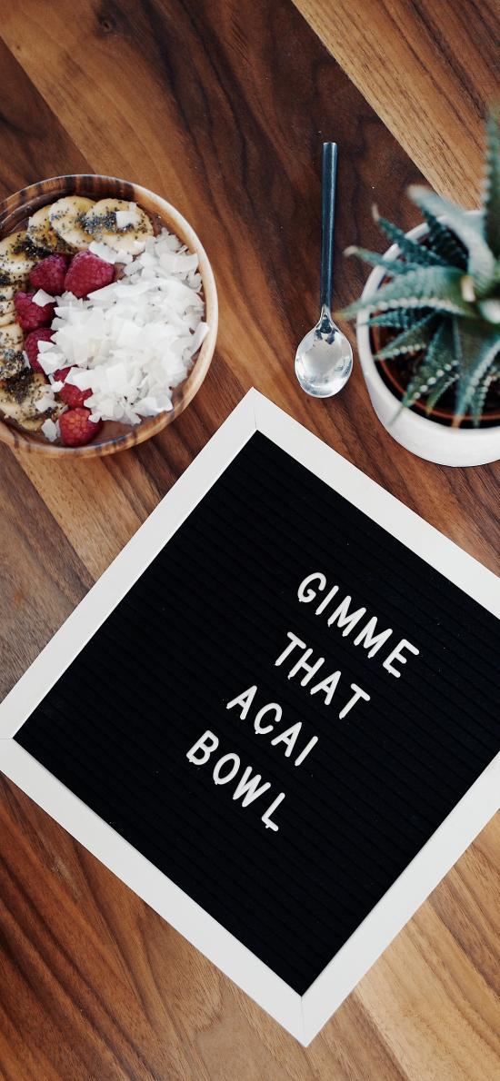 盆栽 沙拉 静物 字板